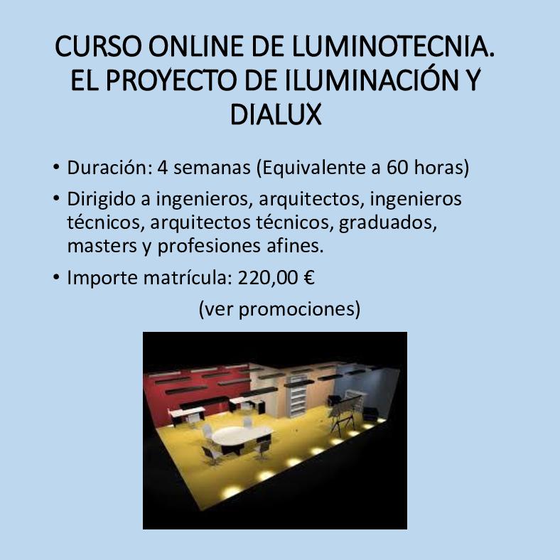 Curso online de luminotecnia y DIALUX