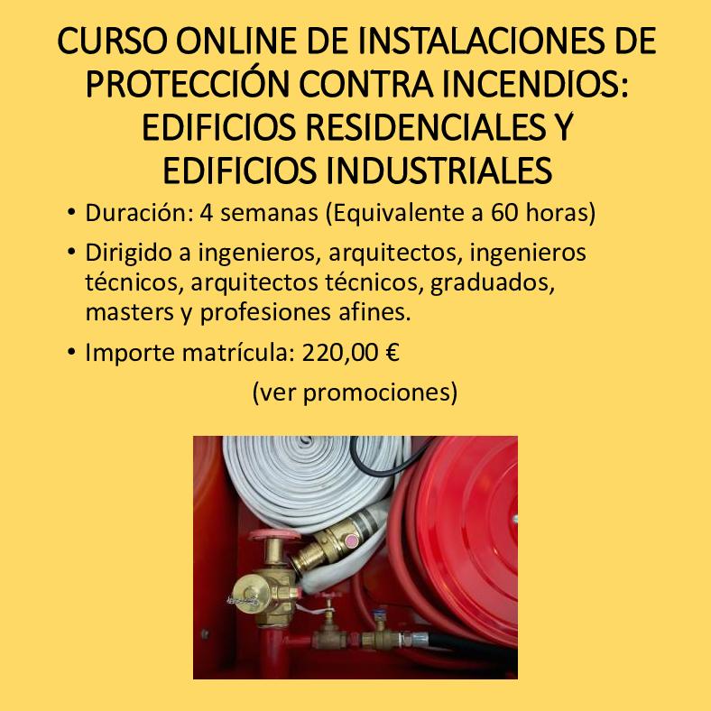 Curso online de instalaciones de protección contra incendios