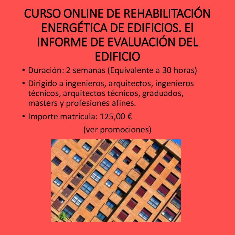 Curso online de rehabilitación energética de edificios