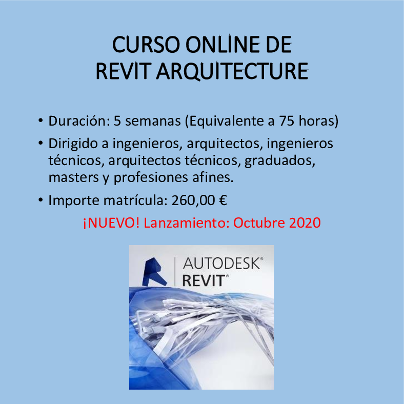 Curso online de REVIT Arquitectura