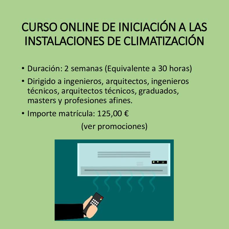 Curso online de climatización